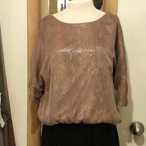 Esley Sheer Layered Sequin Top